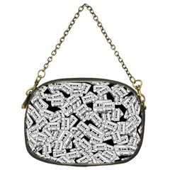 Audio Tape Pattern Chain Purses (one Side)