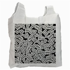 Audio Tape Pattern Recycle Bag (one Side)