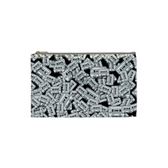 Audio Tape Pattern Cosmetic Bag (small)