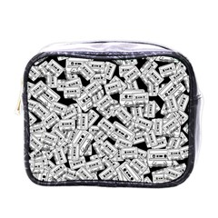 Audio Tape Pattern Mini Toiletries Bags