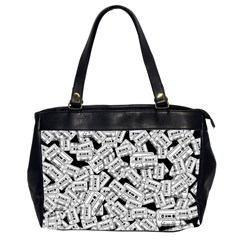 Audio Tape Pattern Office Handbags (2 Sides)