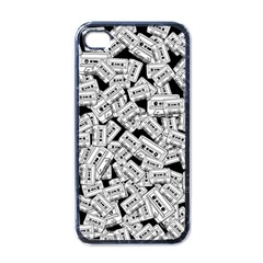 Audio Tape Pattern Apple Iphone 4 Case (black)