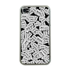 Audio Tape Pattern Apple Iphone 4 Case (clear)
