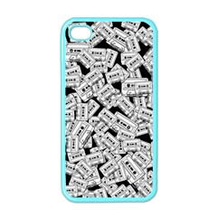 Audio Tape Pattern Apple Iphone 4 Case (color)
