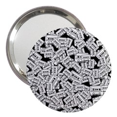 Audio Tape Pattern 3  Handbag Mirrors
