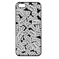 Audio Tape Pattern Apple Iphone 5 Seamless Case (black)