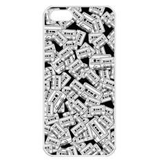 Audio Tape Pattern Apple Iphone 5 Seamless Case (white)