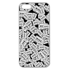 Audio Tape Pattern Apple Seamless Iphone 5 Case (clear)
