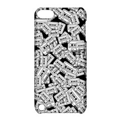 Audio Tape Pattern Apple Ipod Touch 5 Hardshell Case With Stand
