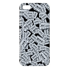 Audio Tape Pattern Apple Iphone 5 Premium Hardshell Case