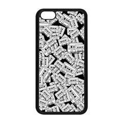 Audio Tape Pattern Apple Iphone 5c Seamless Case (black)