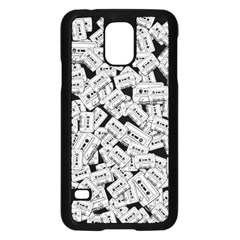 Audio Tape Pattern Samsung Galaxy S5 Case (black)