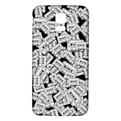 Audio Tape Pattern Samsung Galaxy S5 Back Case (white)
