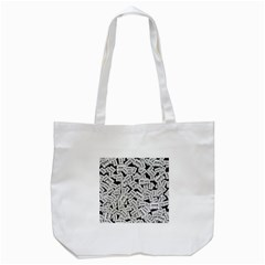 Audio Tape Pattern Tote Bag (white)