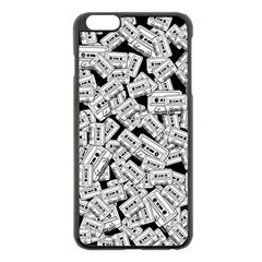 Audio Tape Pattern Apple Iphone 6 Plus/6s Plus Black Enamel Case