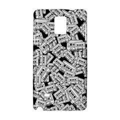 Audio Tape Pattern Samsung Galaxy Note 4 Hardshell Case