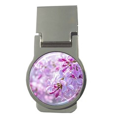 Pink Lilac Flowers Money Clips (round)  by FunnyCow