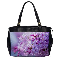 Pink Lilac Flowers Office Handbags by FunnyCow