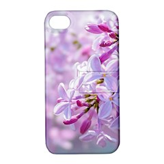 Pink Lilac Flowers Apple Iphone 4/4s Hardshell Case With Stand by FunnyCow