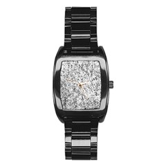 Willow Foliage Abstract Stainless Steel Barrel Watch by FunnyCow