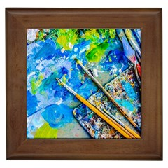 Artist Palette And Brushes Framed Tiles by FunnyCow