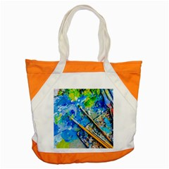 Artist Palette And Brushes Accent Tote Bag by FunnyCow