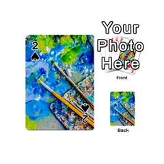 Artist Palette And Brushes Playing Cards 54 (mini)  by FunnyCow