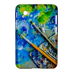 Artist Palette And Brushes Samsung Galaxy Tab 2 (7 ) P3100 Hardshell Case  by FunnyCow