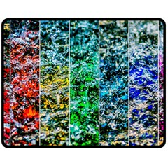 Abstract Of Colorful Water Double Sided Fleece Blanket (medium)  by FunnyCow