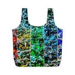 Abstract Of Colorful Water Full Print Recycle Bags (m)  by FunnyCow