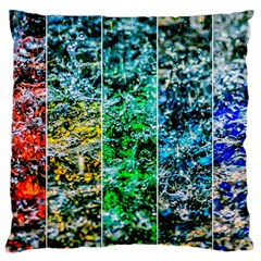 Abstract Of Colorful Water Standard Flano Cushion Case (one Side) by FunnyCow
