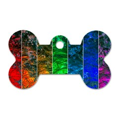 Rainbow Of Water Dog Tag Bone (two Sides) by FunnyCow