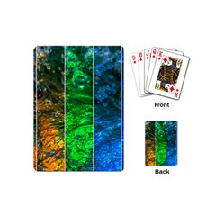 Rainbow Of Water Playing Cards (mini)  by FunnyCow