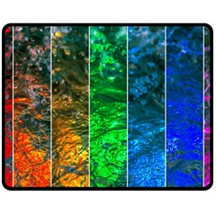 Rainbow Of Water Double Sided Fleece Blanket (medium)  by FunnyCow