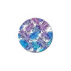 Blue Tropical Leaves Pattern Golf Ball Marker (10 Pack) by goljakoff