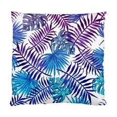 Blue Tropical Leaves Pattern Standard Cushion Case (one Side) by goljakoff