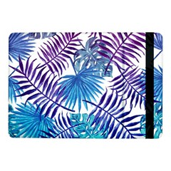 Blue Tropical Leaves Pattern Samsung Galaxy Tab Pro 10 1  Flip Case by goljakoff
