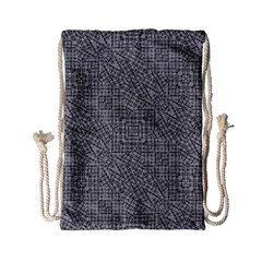 Linear Intricate Geometric Pattern Drawstring Bag (small) by dflcprints