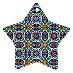 1 2 C Star Ornament (two Sides)