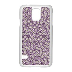Ditsy Floral Pattern Samsung Galaxy S5 Case (white) by dflcprints