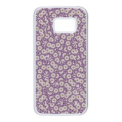Ditsy Floral Pattern Samsung Galaxy S7 White Seamless Case