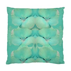Green Fantasy Flower In Beautiful Festive Style Standard Cushion Case (one Side) by pepitasart