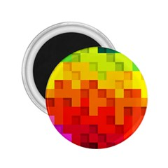 Abstract Background Square Colorful 2 25  Magnets