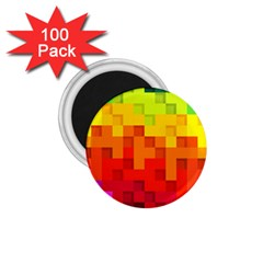 Abstract Background Square Colorful 1 75  Magnets (100 Pack)