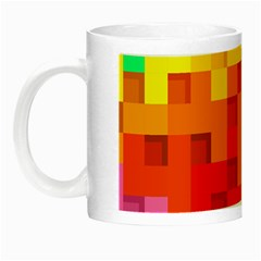 Abstract Background Square Colorful Night Luminous Mugs