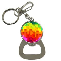 Abstract Background Square Colorful Bottle Opener Key Chains