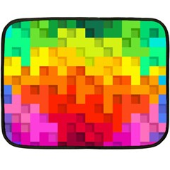 Abstract Background Square Colorful Fleece Blanket (mini)