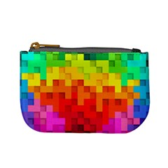 Abstract Background Square Colorful Mini Coin Purses