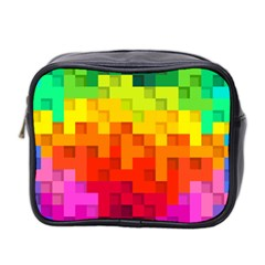 Abstract Background Square Colorful Mini Toiletries Bag 2 Side
