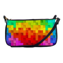 Abstract Background Square Colorful Shoulder Clutch Bags by Nexatart